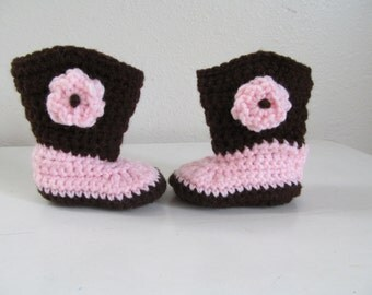 Beautiful Hand Crocheted Baby Cowgirl Boots