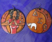 DELTA GIRL Signature Delta Sigma Theta  . Ear Dangles . 1 of 10