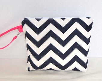 Diaper clutch, wristlet large in choice of fabric and lining- you customize