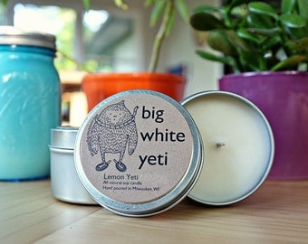 Lemon Yeti Soy Candle- 6 Ounce Tin