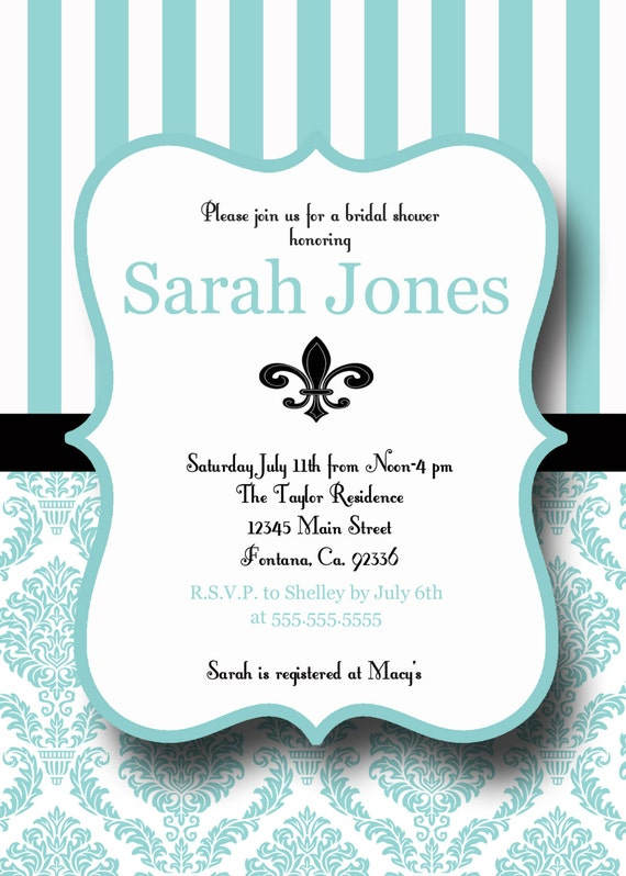 Items similar to Printable Bridal Shower Invite, Personalized Bridal Shower Invitation on Etsy