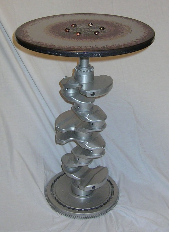 Hand Made Real Engine Crankshaft Wine Side Table Hot Rod Drag