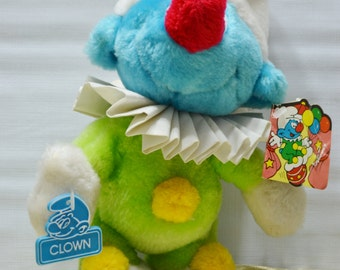 Vintage Smurf Clown Stuffed Plush Animal / Doll Toy