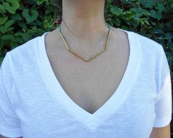 Structural Brass Choker Necklace