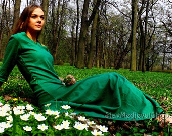 medieval dress, Cotte simple, historical pattern, great for reenacting, elves dress, medieval dress binding on both sides