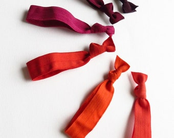 Elastic Hair Ties Gift Set - Blood Orange