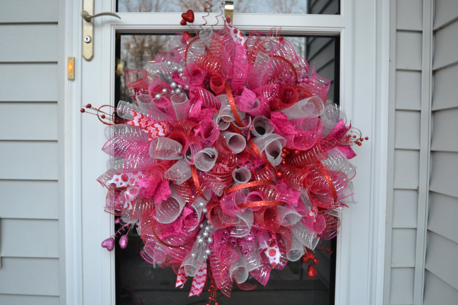 Valentines Day Wreath Deco Mesh Valentines Mesh Wreath