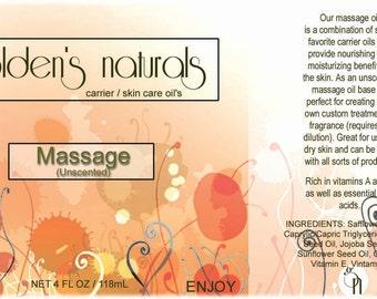 Massage Oil (Unscented) - Carrer Oil - 4oz