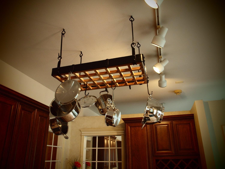 Hanging Kitchen Pot Rack Custom Forged Hanging Pot Rack