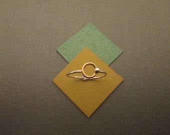 Silver/Gold/Rose Gold Circle Ring, Circle Size Options, Eternity Ring, Open Circle Ring, Silver, Gold Filled, and Rose Gold Filled Options