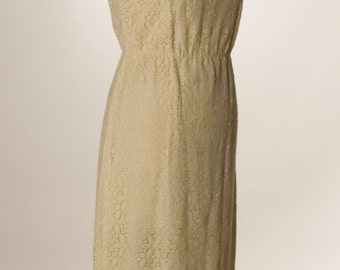 Sunflower Bobbin Lace 60's  Dress
