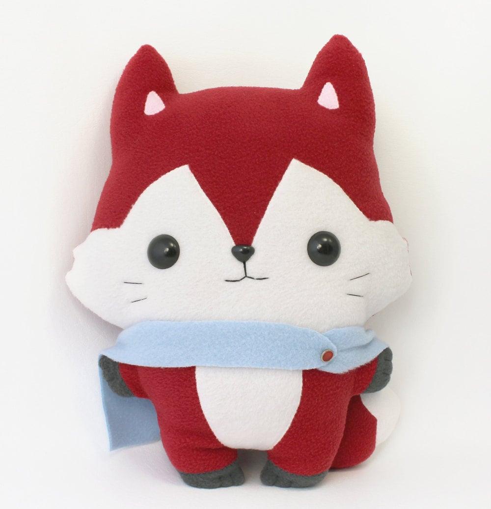 Free Stuffed Animal Pillow Patterns : PDF sewing pattern Fox stuffed animal easy beginner cute