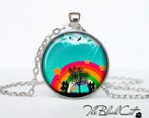 Rainbow pendant Rainbow necklace Rainbow jewelry (PR0002)