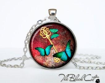 Steampunk key pendant Steampunk key necklace Steampunk key jewelry (PSK0001)