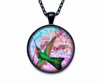 Colibri pendant Colibri necklace Colibri jewelry nature necklace