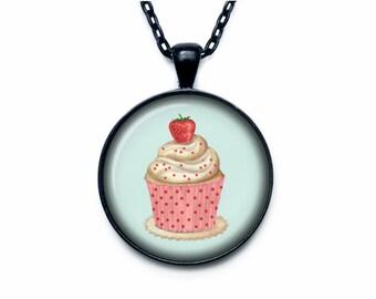 Cupcake necklace cupcake necklace pendant cupcake jewelry