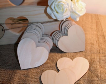 Guest Book alternative, Wooden Hearts (10), Wedding Wishes, Advice for Bride and Groom, Advice for Bride to be