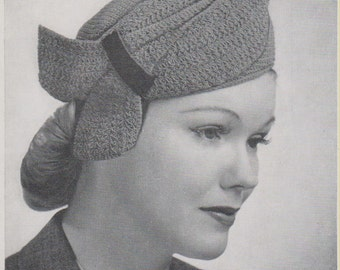 1930s Vintage Bandbox Crochet Pattern PDF Dramatic Band Accent  Instant Download Get It Now