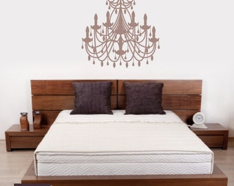 Chandelier wall decals wall art decals chandelier wall decals chandelier decal wall decal room decor aloadofball Gallery