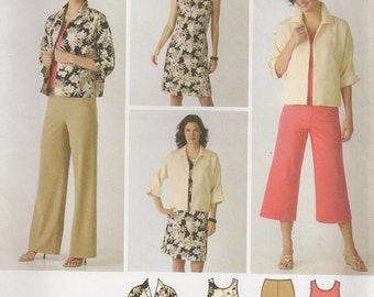 Simplicity 3843, Commercial Sewing Pattern, Sewing Supplies, Supplies, Misses' Wardrobe, Size 10 to 18, OOP