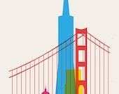 Shapes of San-Francisco  art print