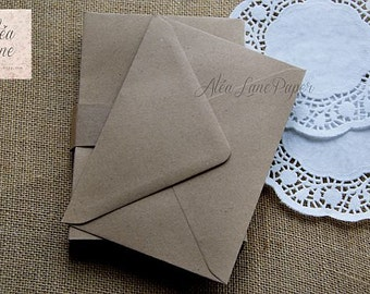 50 A7 kraft envelopes