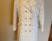 Cream and Gold with Mother of Pearl Buttoned Vintage Sears Spring Jacket