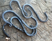 Twist Decorative S Hook - Hand Forged S Camping Hook: Blacksmith Made Reenactment Rendezvous and Mountain Man Muzzleloader lantern hook