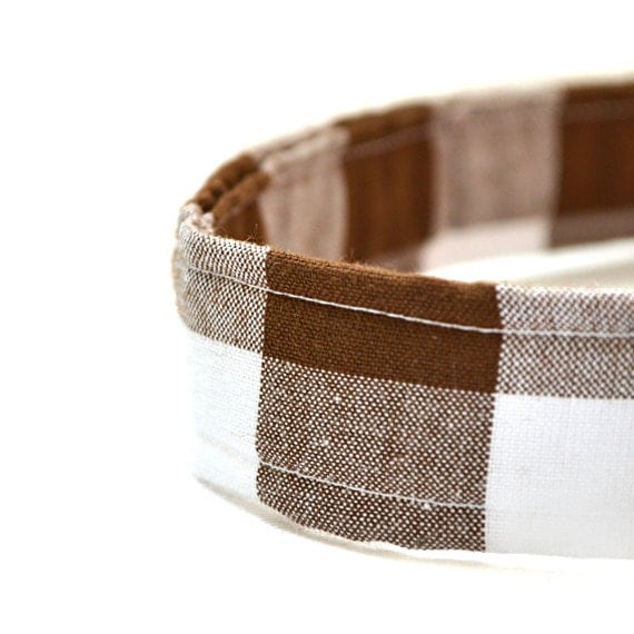 toddler velcro belt brown gingham by the by