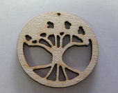 10 Laser Cut Wood Trees W016