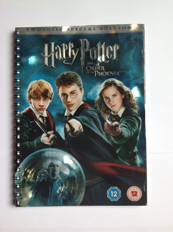 Handmade notebook - HARRY POTTER & The Order of The Phoenix - plain pages - recycled