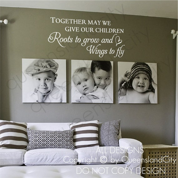 Together May We Give Our Children Wall Quote Kid Nursery Art