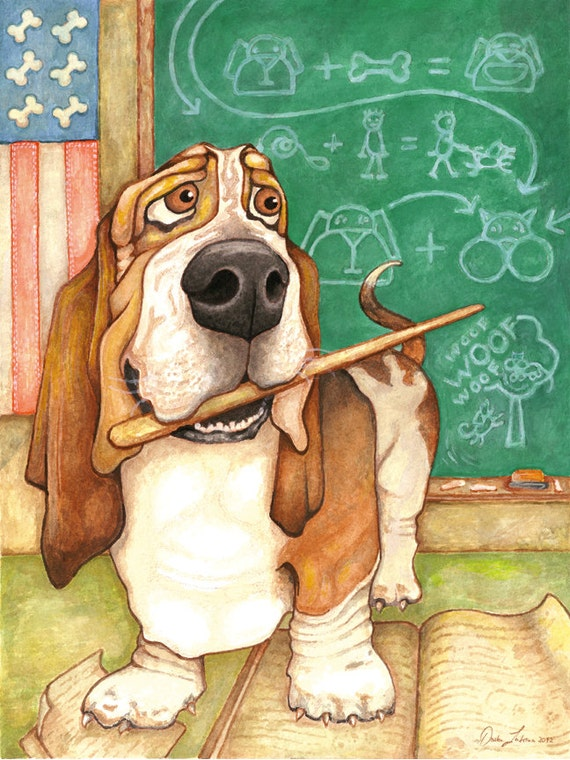 Items similar to Professor Hound (Basset Hound Professor ...