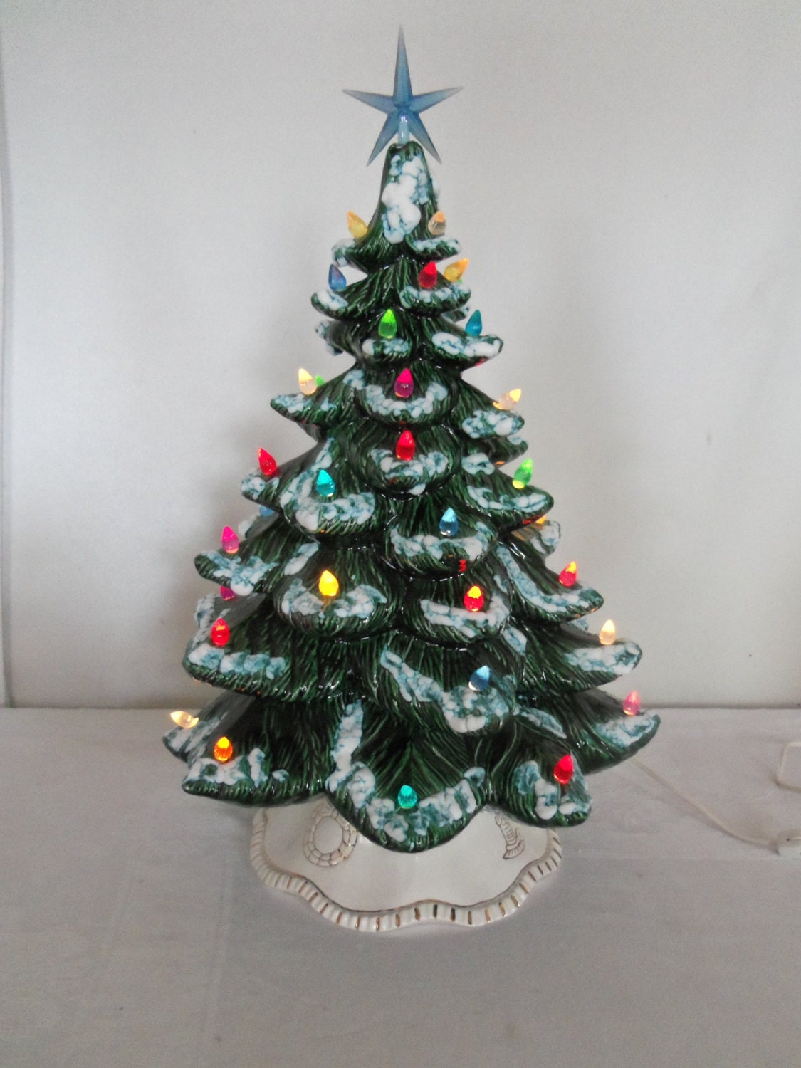 Vintage Green Ceramic Christmas Tree