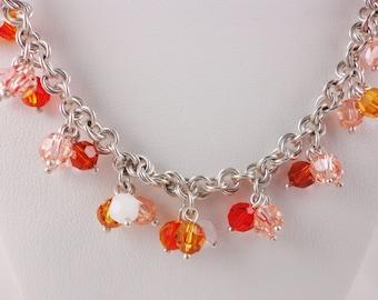 Harvest Colors Sterling Silver and Swarovski Necklace