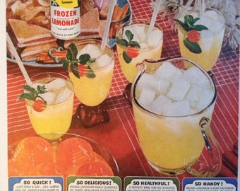 Lemonade From Sunny California, Paper Ephemera from a 1953 Life Magazine.