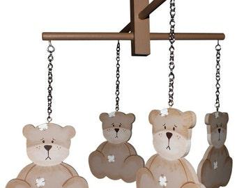 Brown Teddy Bear Mobile - Byron Bear Mobile
