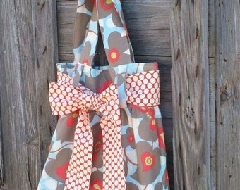 Reversible Tote Bag, Amy Butler Fabric Tote Bag Large Purse