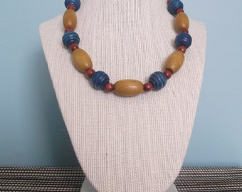 Handmade necklace - wooden beads