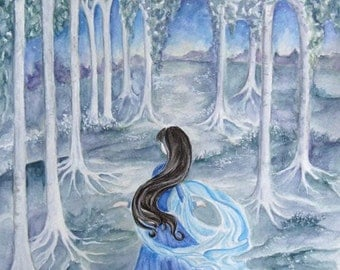 Luthien, original painting 11x14