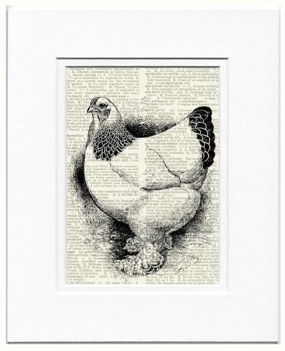 Hen dictionary page printt