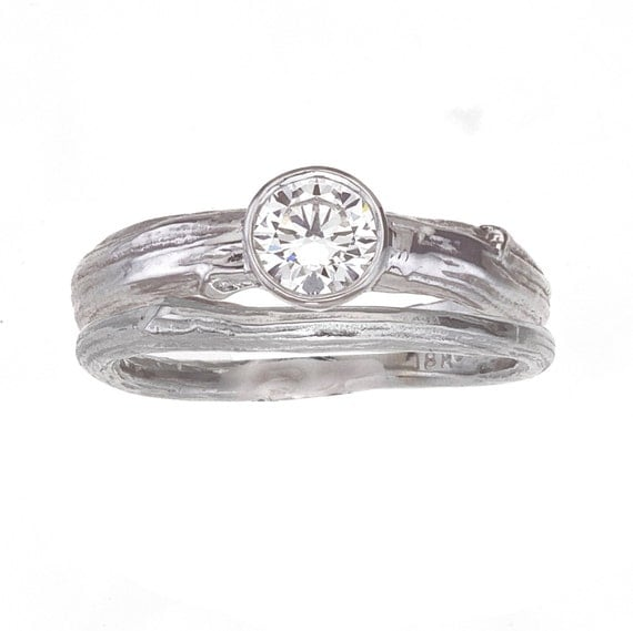 items similar to engagement ring with wide band