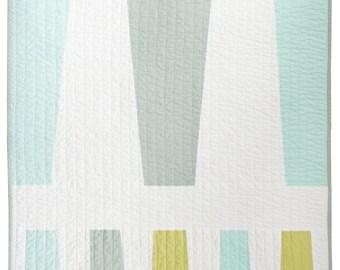 Modern Quilt - Modern Pet/Baby Quilt - Variation 1