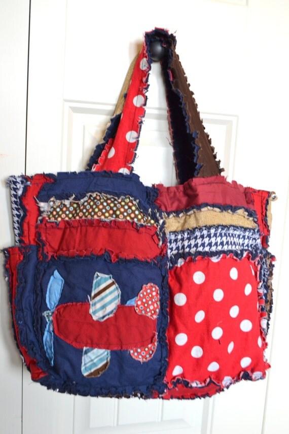 Handmade Diaper Bags : Items similar to airplane diaper bag handmade baby gift
