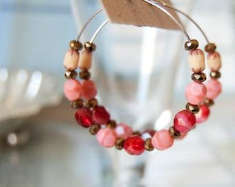 Halo -  hoop earrings