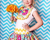 Made to match the Summer Flower Chevron by Amy's Buttons & Bows Chunky Necklace for Little Girls