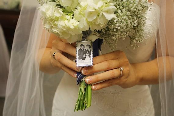 Photo Frame Rectangle Bouquet Charm
