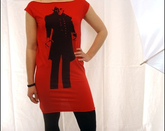 Red Nosferatu Tshirt Dress