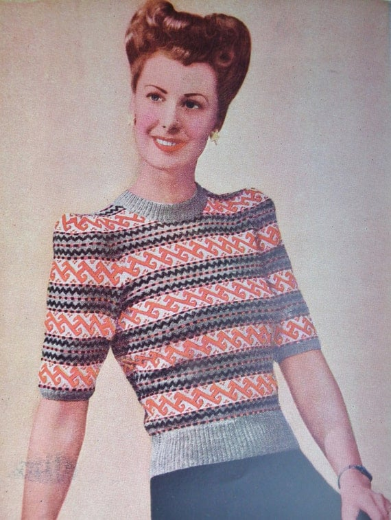 Yours Magazine Knitting Patterns : Vintage 1940s Sewing Knitting Needlework Magazine Needlewoman