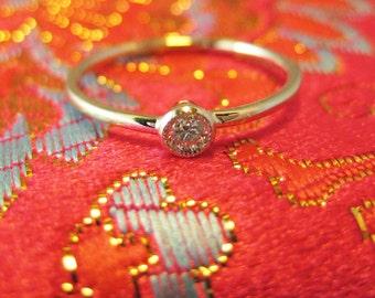 Eon, a 14K Gold, 0.05ct Diamond, 1mm Ring